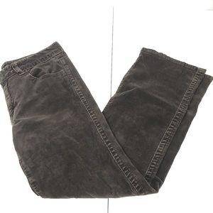 Calvin Klein Brown Straight Leg Corduroy Size 8